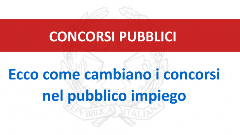 Concorsi: le novità nelle slides della Funzione Pubblica