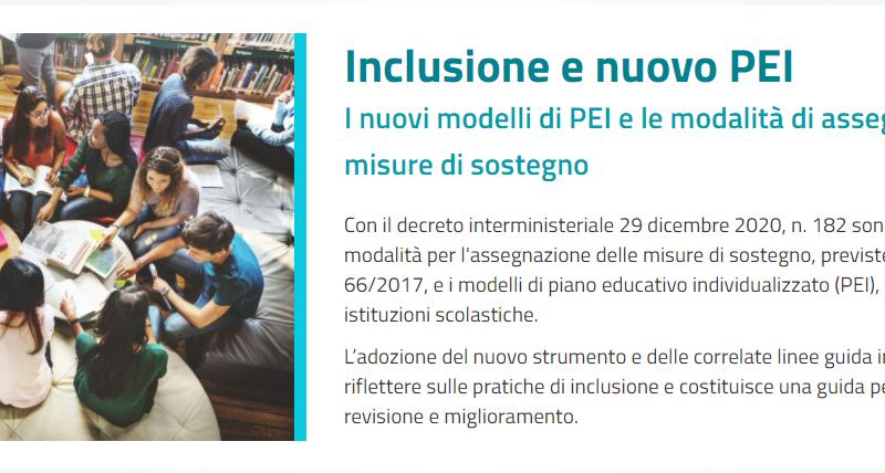 Inclusione: nuovo PEI inviato alle Istituzioni scolastiche. Faq e approfondimento.